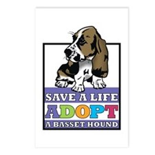 Basset Hound Rescue Postcards (Package of 8)