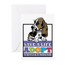 Basset Hound Rescue Greeting Cards (Pk of 10)