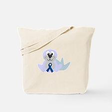 Blue Awareness Ribbon Goofkins Seal Tote Bag