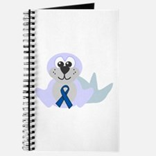 Blue Awareness Ribbon Goofkins Seal Journal