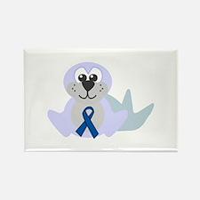 Blue Awareness Ribbon Goofkins Seal Rectangle Magn