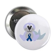 "Blue Awareness Ribbon Goofkins Seal 2.25"" Button ("