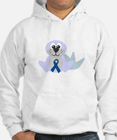 Blue Awareness Ribbon Goofkins Seal Jumper Hoody