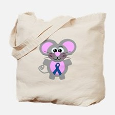 Blue Awareness Ribbon Goofkins Mouse Tote Bag