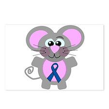 Blue Awareness Ribbon Goofkins Mouse Postcards (Pa