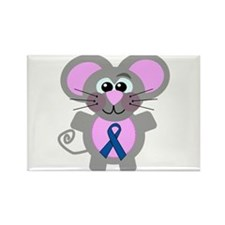 Blue Awareness Ribbon Goofkins Mouse Rectangle Mag
