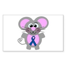 Blue Awareness Ribbon Goofkins Mouse Decal