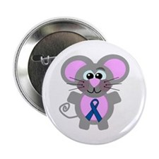 "Blue Awareness Ribbon Goofkins Mouse 2.25"" Button"