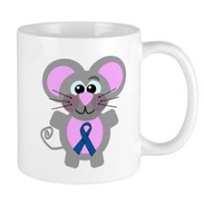 Blue Awareness Ribbon Goofkins Mouse Mug
