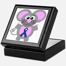 Blue Awareness Ribbon Goofkins Mouse Keepsake Box