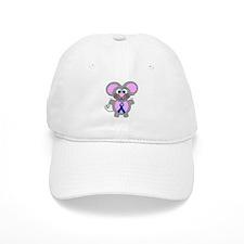 Blue Awareness Ribbon Goofkins Mouse Baseball Cap
