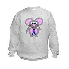 Blue Awareness Ribbon Goofkins Mouse Sweatshirt