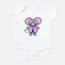 Blue Awareness Ribbon Goofkins Mouse Infant Bodysu