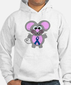 Blue Awareness Ribbon Goofkins Mouse Jumper Hoody