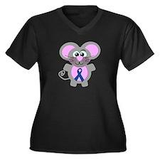 Blue Awareness Ribbon Goofkins Mouse Women's Plus