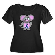 Blue Awareness Ribbon Goofkins Mouse T