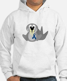 Blue Awareness Ribbon Goofkins Walrus Jumper Hoody