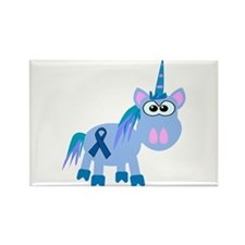 Blue Awareness Ribbon Goofkins Unicorn Rectangle M