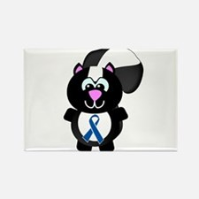 Blue Awareness Ribbon Goofkins Skunk Rectangle Mag