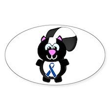 Blue Awareness Ribbon Goofkins Skunk Decal
