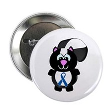 "Blue Awareness Ribbon Goofkins Skunk 2.25"" Button"