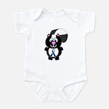Blue Awareness Ribbon Goofkins Skunk Infant Bodysu