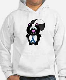Blue Awareness Ribbon Goofkins Skunk Jumper Hoody