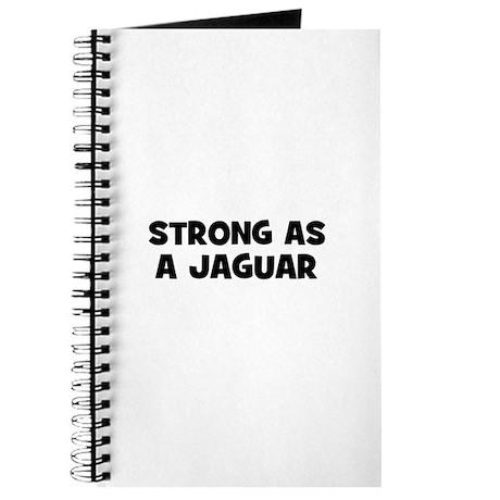 Strong as a Jaguar Journal