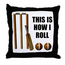 This Is How I Roll Cricket Throw Pillow