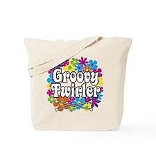 Groovy Twirler Tote Bag