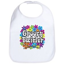 Groovy Twirler Bib