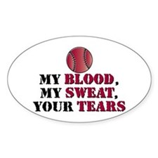 Blood sweat vball Oval Decal