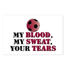 Blood Sweat Soccer Postcards (Package of 8)