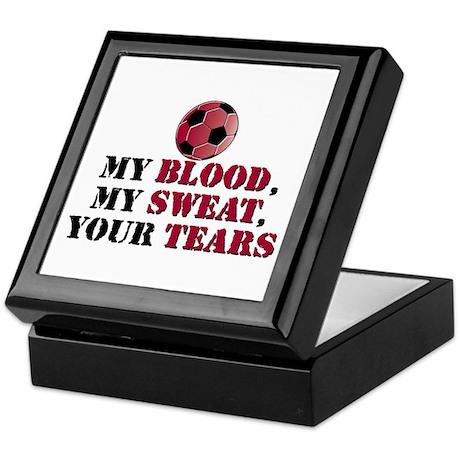 Blood Sweat Soccer Keepsake Box