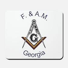 Georgia Square and Compass Mousepad