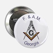 "Georgia Square and Compass 2.25"" Button"