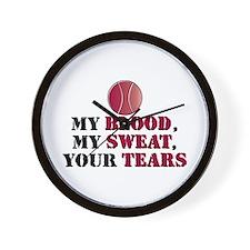 Blood Sweat Tennis Wall Clock