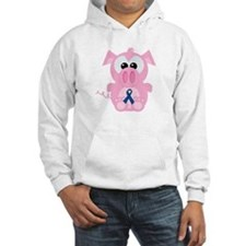 Blue Awareness Ribbon Goofkins Piggy Pig Jumper Hoody