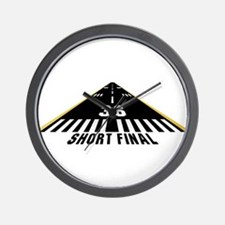 Aviation Short Final Wall Clock