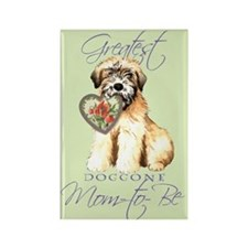 Wheaten Mom-to-Be Rectangle Magnet