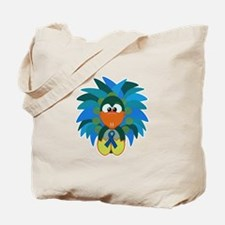 Blue Awareness Ribbon Goofkins Peacock Tote Bag