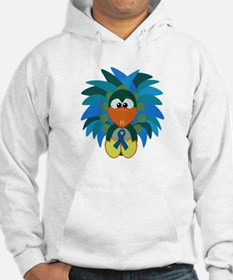 Blue Awareness Ribbon Goofkins Peacock Jumper Hoody