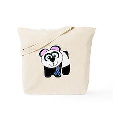Blue Awareness Ribbon Goofkins Panda Tote Bag