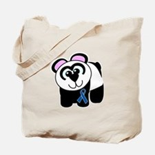 Blue Awareness Ribbon Goofkins Panda Tote Bag