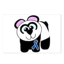 Blue Awareness Ribbon Goofkins Panda Postcards (Pa