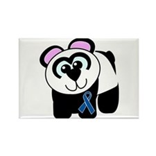 Blue Awareness Ribbon Goofkins Panda Rectangle Mag