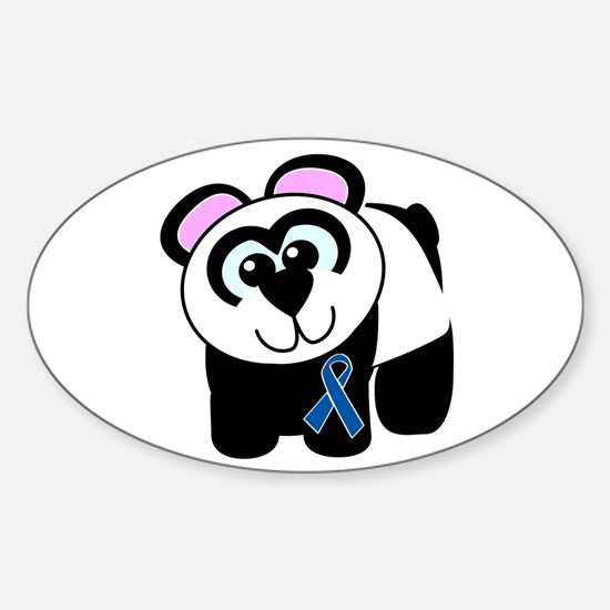 Blue Awareness Ribbon Goofkins Panda Decal