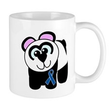 Blue Awareness Ribbon Goofkins Panda Mug
