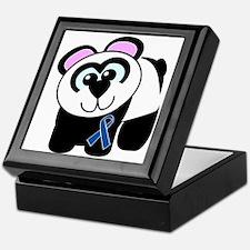 Blue Awareness Ribbon Goofkins Panda Keepsake Box