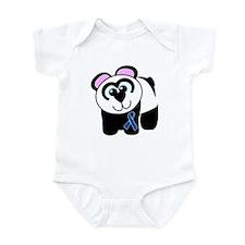 Blue Awareness Ribbon Goofkins Panda Infant Bodysu